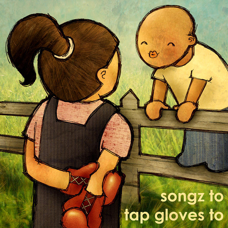 Songz To Tap Gloves To Painting by Katie Falkenberg