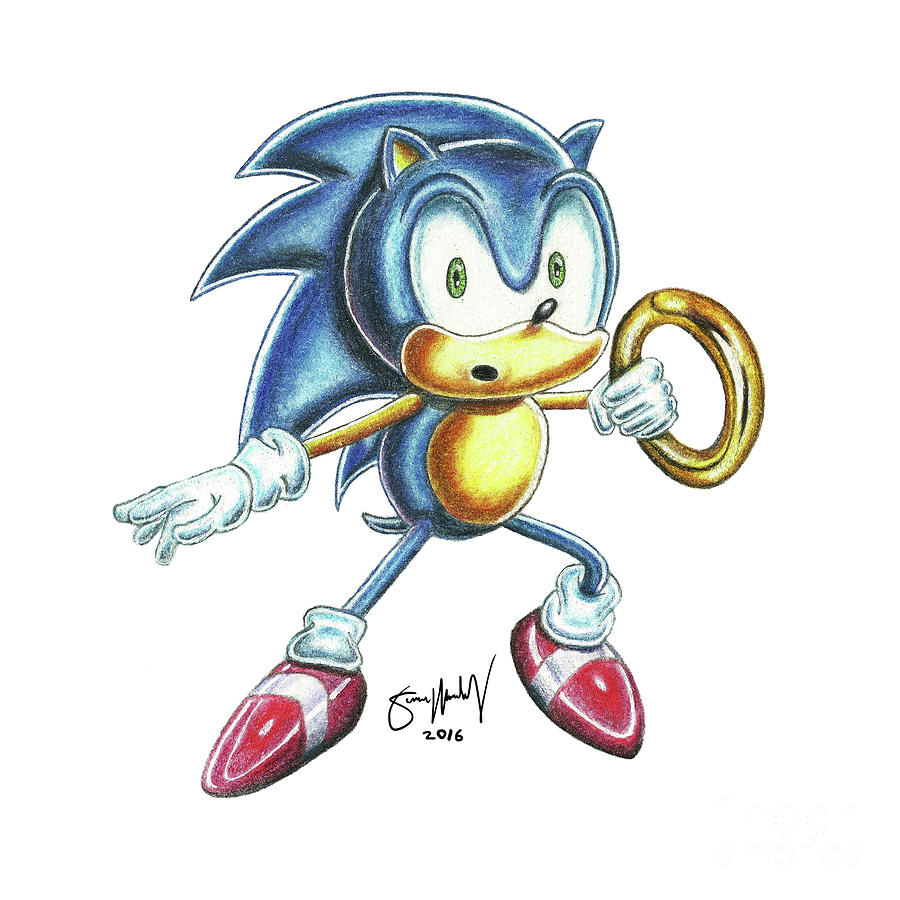 Sonic Ring Drawing By Simon Moulding