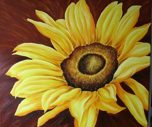Flower Painting - Sonnenblick  by Haike Espenhain
