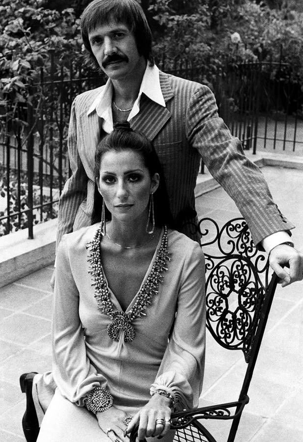 1970s Fashion Photograph - Sonny & Cher, Sonny Top, Cher Bottom by Everett
