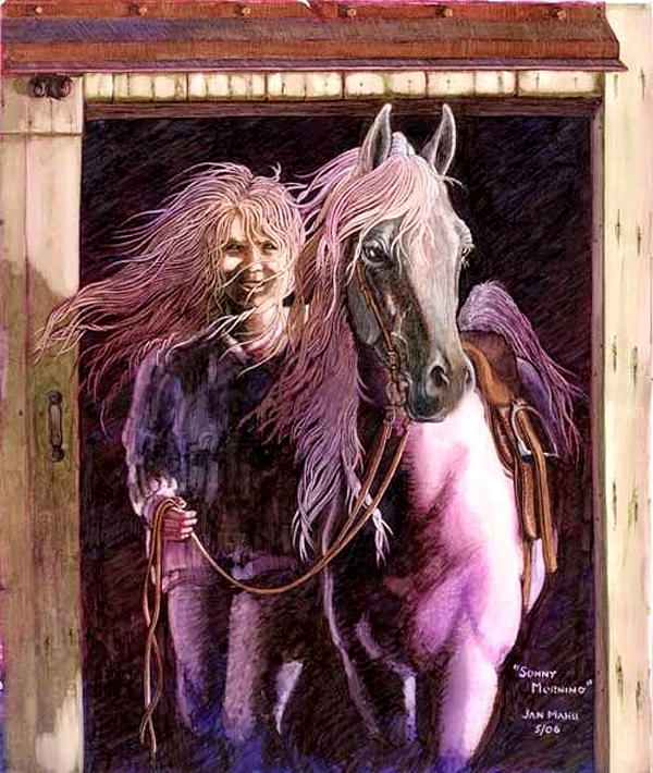 Horse Painting - Sonny Morning by Jan Kappes