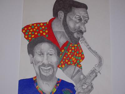 Sonny Rollins Drawing by Glenn Isaac
