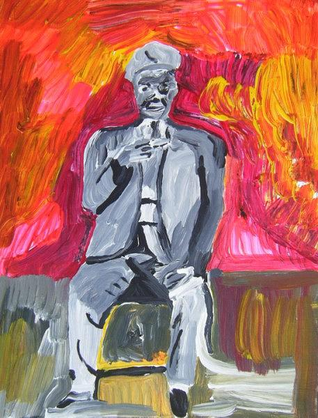 Musician Painting - Sonny Terry by John Bisbee