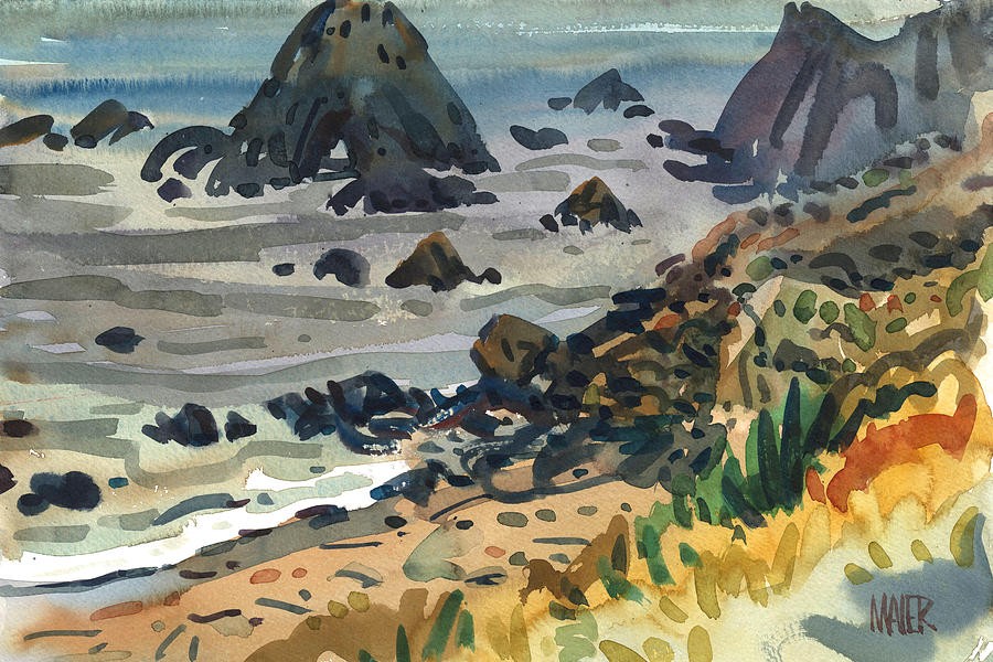 Plein Air Painting - Sonoma Coast by Donald Maier