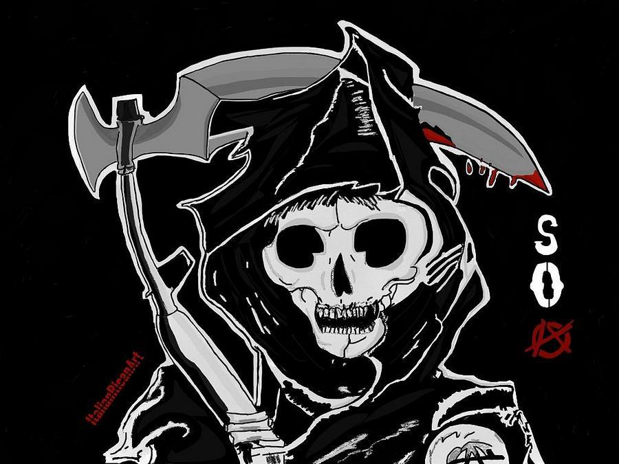 Soa Digital Art - Sons Of Anarchy Logo by ItalianRicanArt