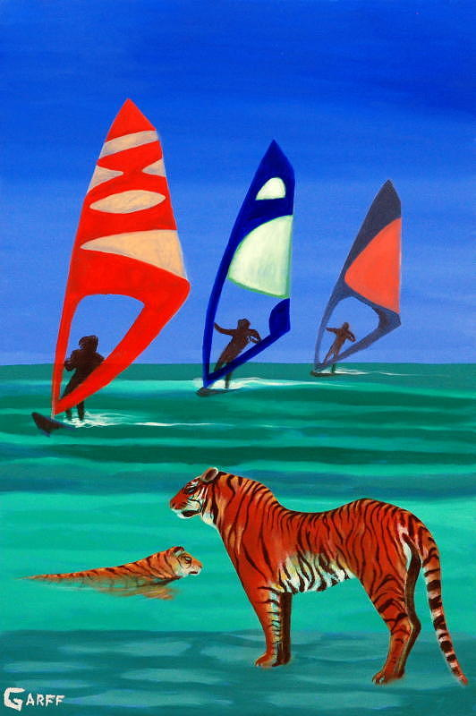 Tigers Painting - Tigers Sons of the Sun by Enrico Garff