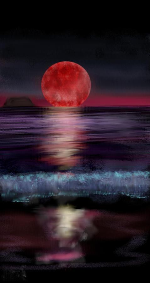 Moon Digital Art - Soon Set by Kab