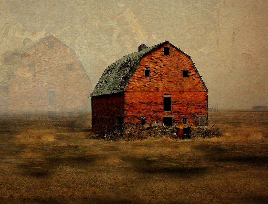 Barn Digital Art - Soon To Be Forgotten by Julie Hamilton