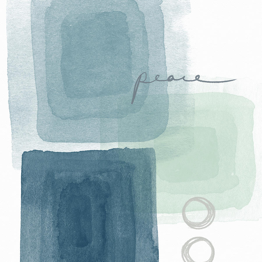 Peace Mixed Media - Soothing Peace- Art by Linda Woods by Linda Woods