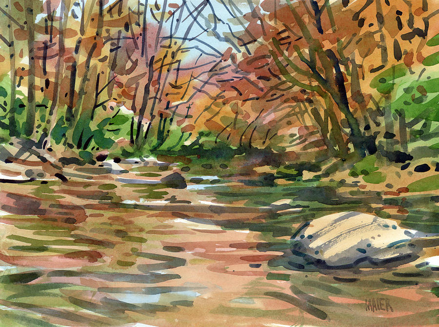 Sope Creek Painting - Sope Creek Eleven by Donald Maier