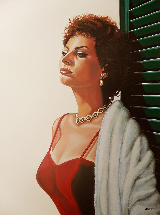 Sophia Loren Painting - Sophia Loren  by Paul Meijering