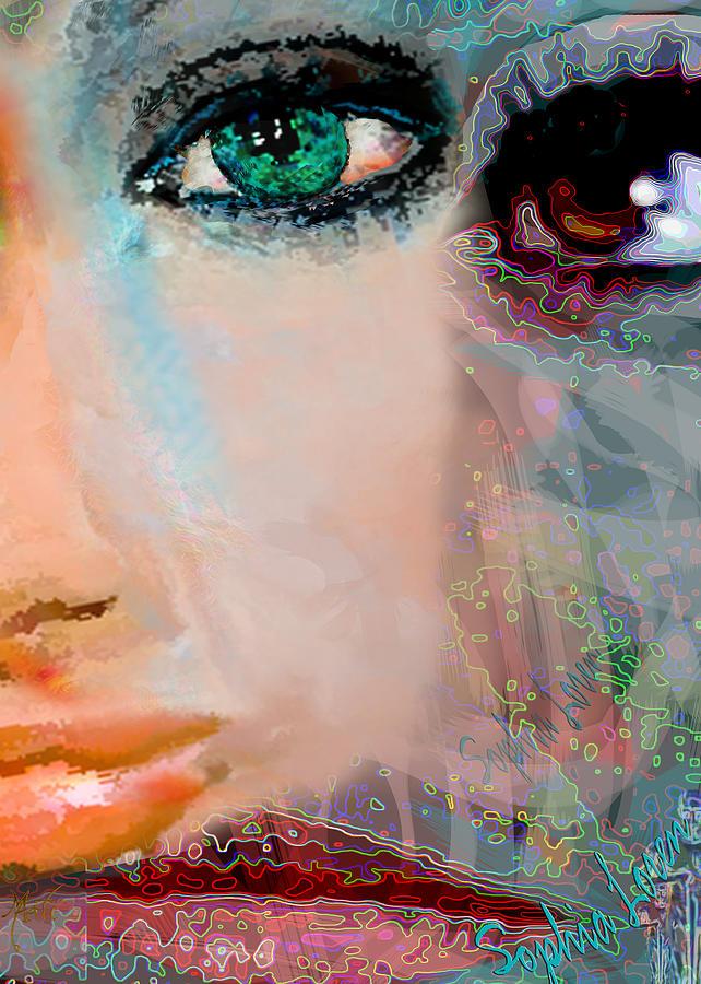 Sophia Loren Abstract Portrait Painting