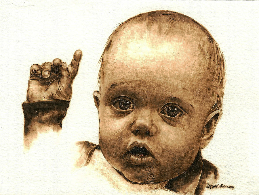 Portraits Pyrography - Sophie by Dino Muradian
