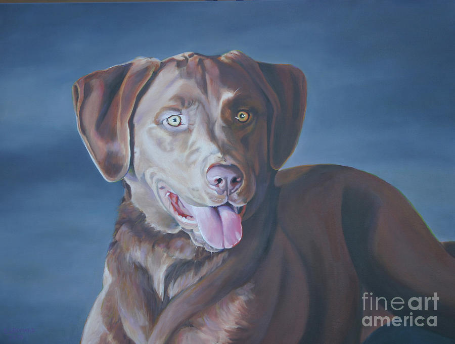 Dog Painting - Sophie by Suzanne Leonard