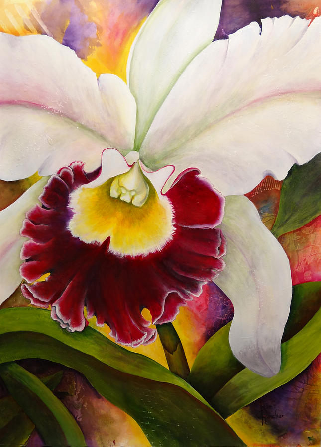 Orchid Painting - Sophistication 4 by Jean Rascher