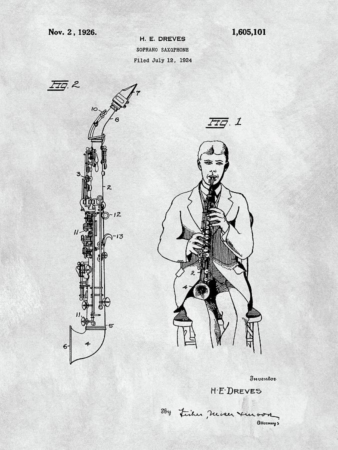 Soprano Saxophone Patent Drawing