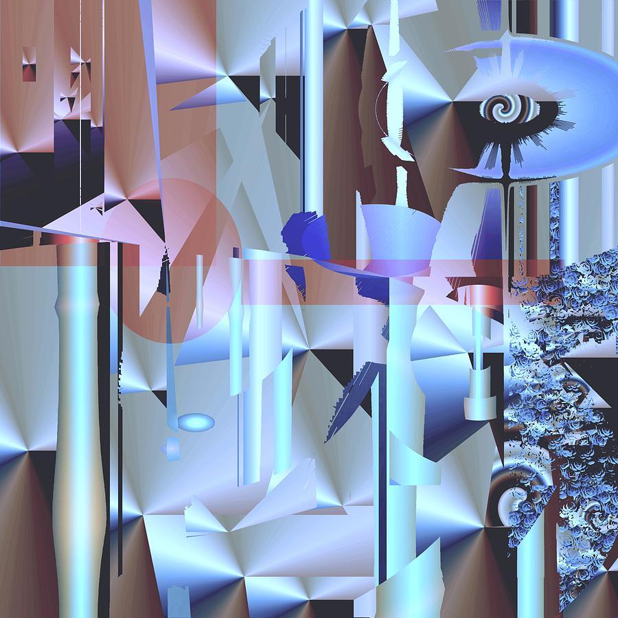 Abstract Digital Art - Sorbitol by Elsbeth Lane