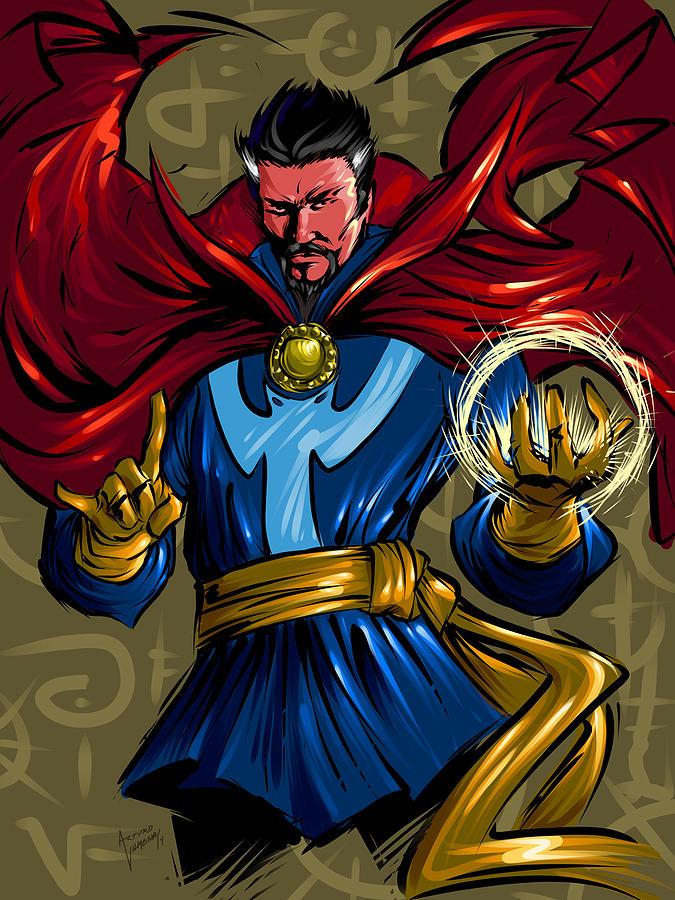 Superhero Painting - Sorcerer by Arturo Vilmenay