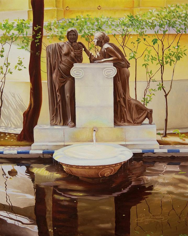 Joaquin Sorolla Painting - Sorollas Garden Madrid Spain by Gary  Hernandez