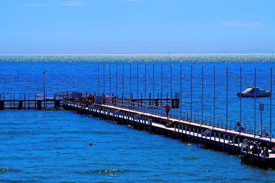 Sorrento Couta Boat Pier by Ronald Rockman