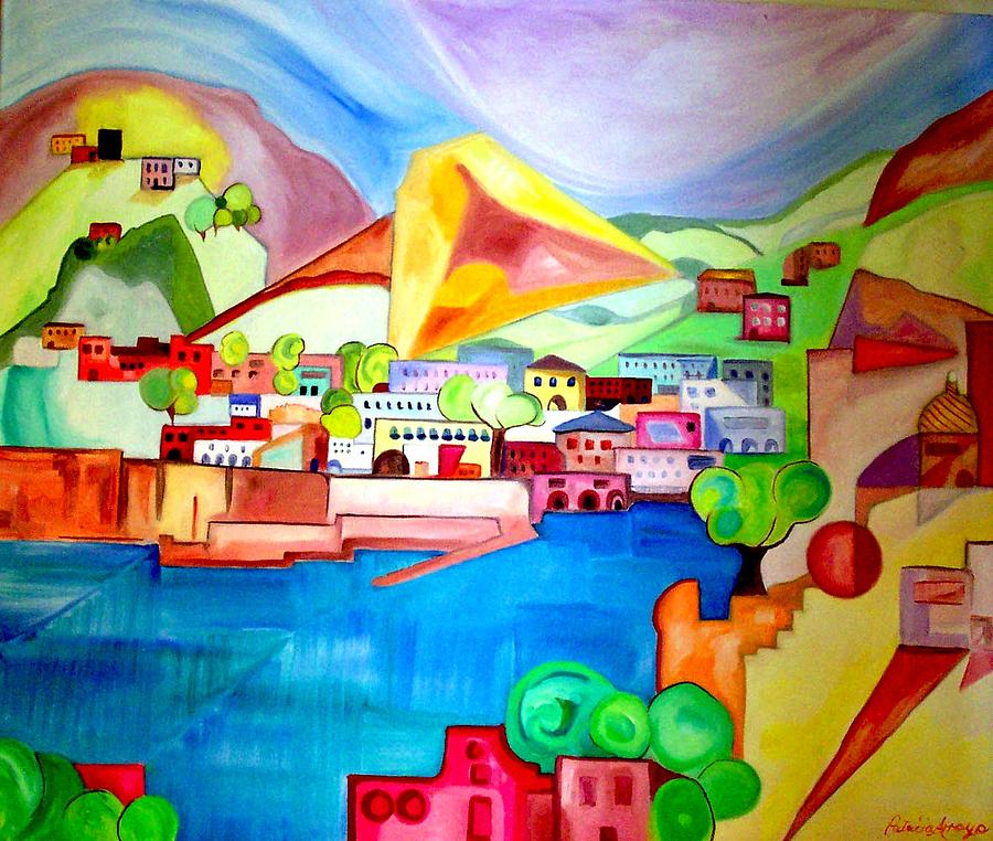 Abstract Painting - Sorrento by Patricia Arroyo