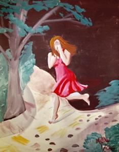 Women Painting - Sorrow   Original Framed  by Christine Ward