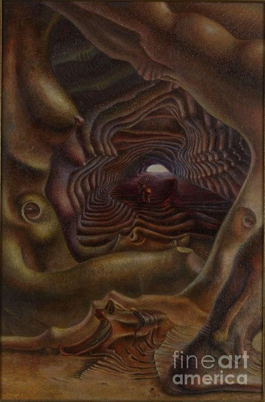 Surrealism Painting - Sorrow And Light Of Conception Of New Life by Denis Hmylnin