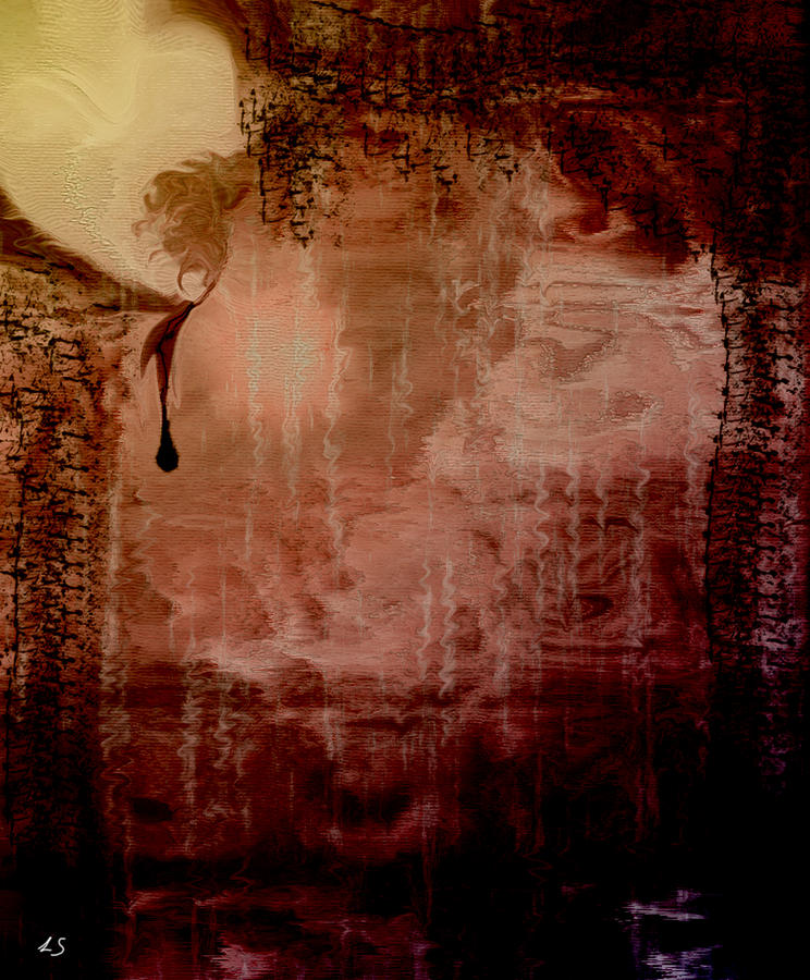 Abstracts Digital Art - Sorrow by Linda Sannuti