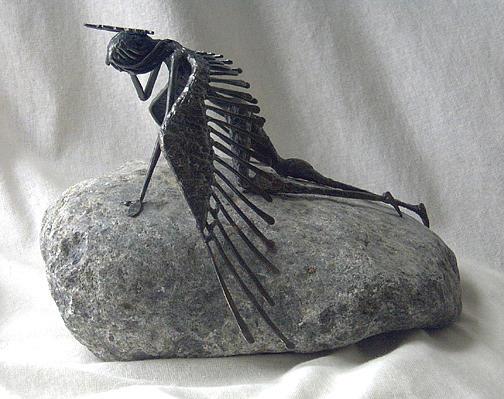Angel Sculpture - Sorrow by Ric Larson