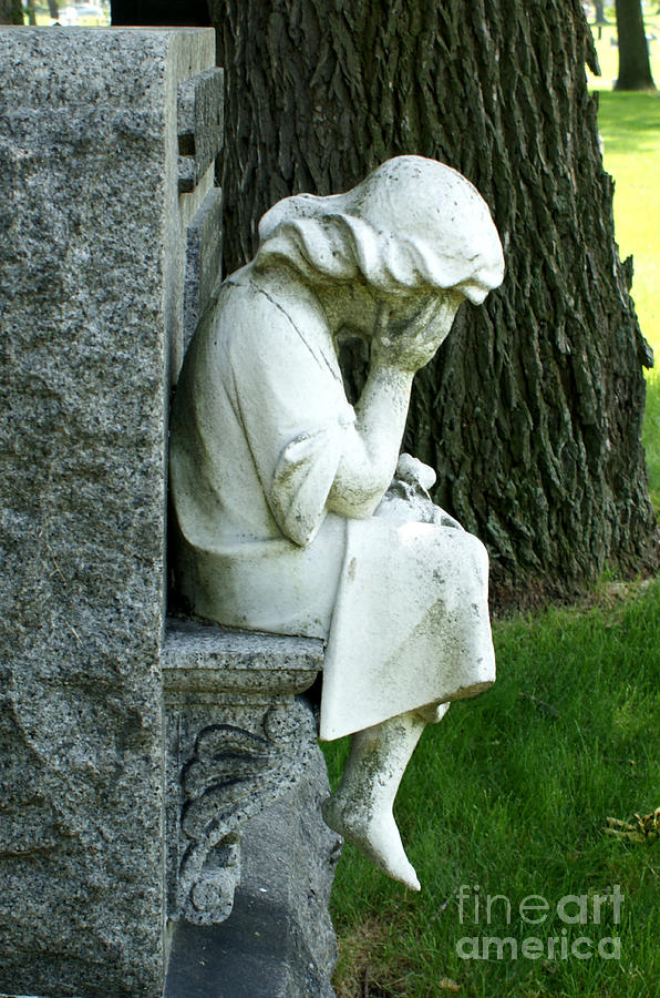 Cemetery Photograph - Sorrow by Valerie Fuqua