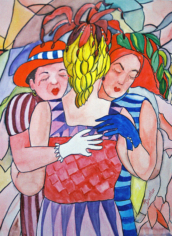 Sorrowful Sisters Painting by AnnE Dentler