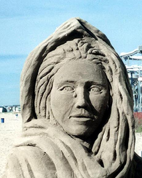 Sand Sculpture Sculpture - Sorrows Passage by John Gruber