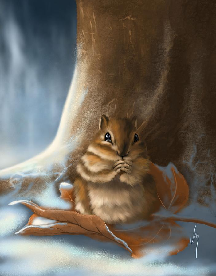 Squirrel Painting - Sorry by Veronica Minozzi