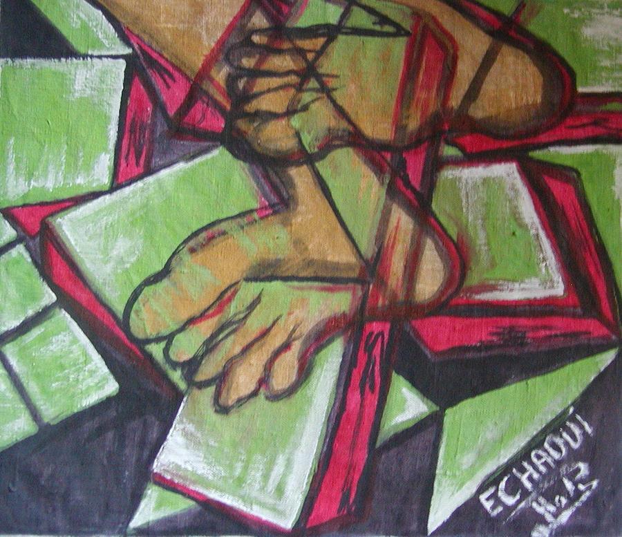 Souffrance 01 2007 Painting by Halima Echaoui