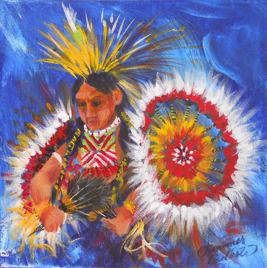 Indian Painting - Souix Dancer by Summer Celeste