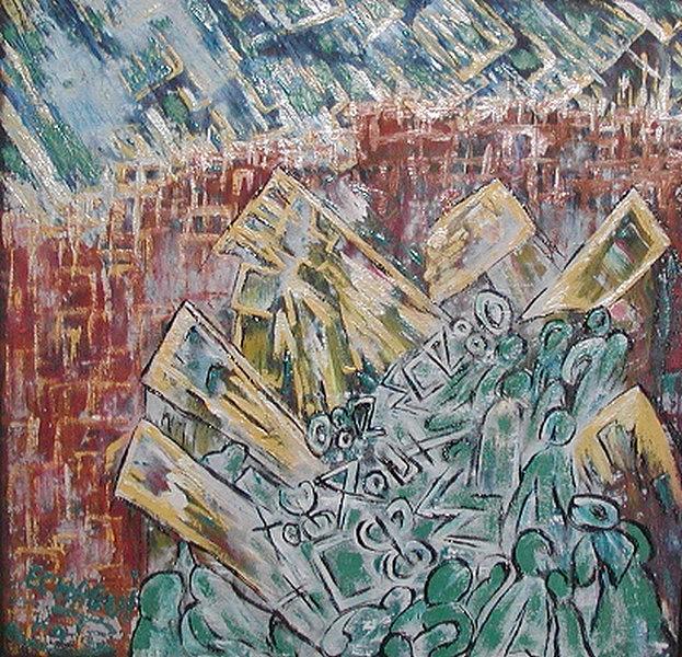 Souk 2007 Painting by Halima Echaoui