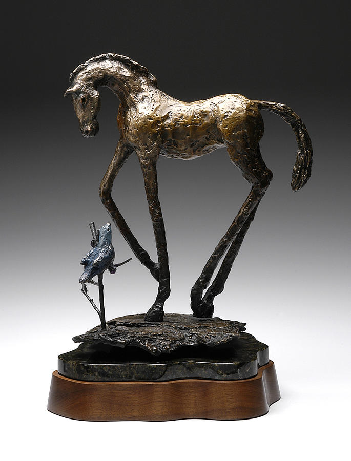 Horse Sculpture - Soul Companion by Mindy Z Colton