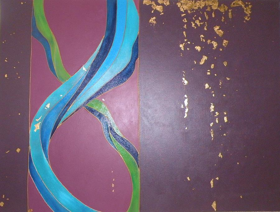Gold Leaf Painting - Soul Connection by Chandana Paravastu