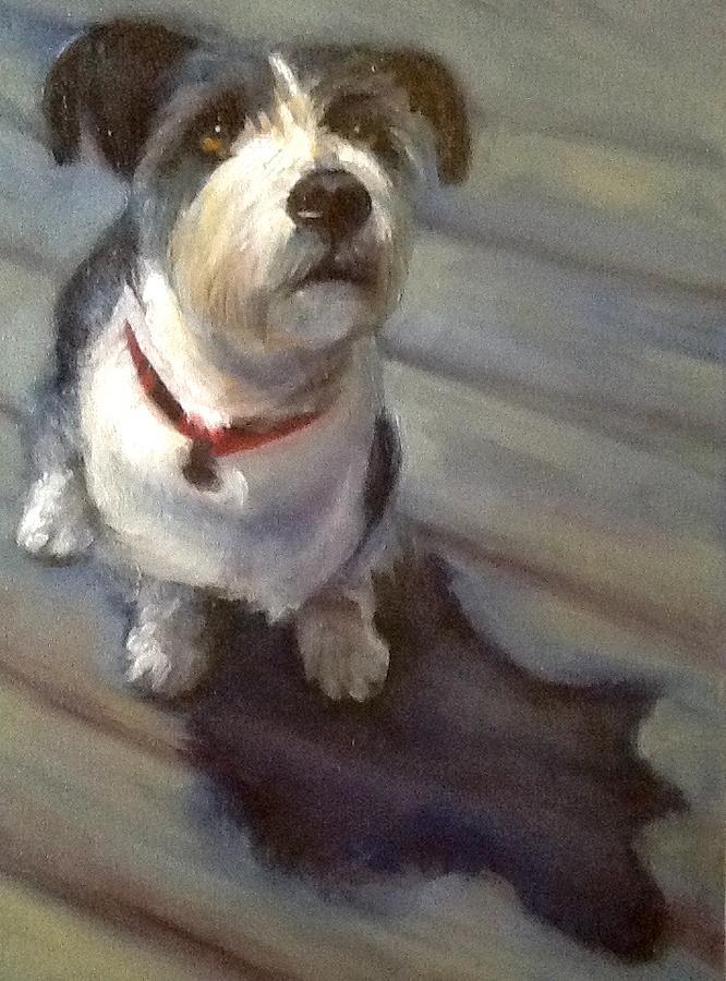 Soul Dog Aka Otis Grilli Painting by Cynthia Mozingo