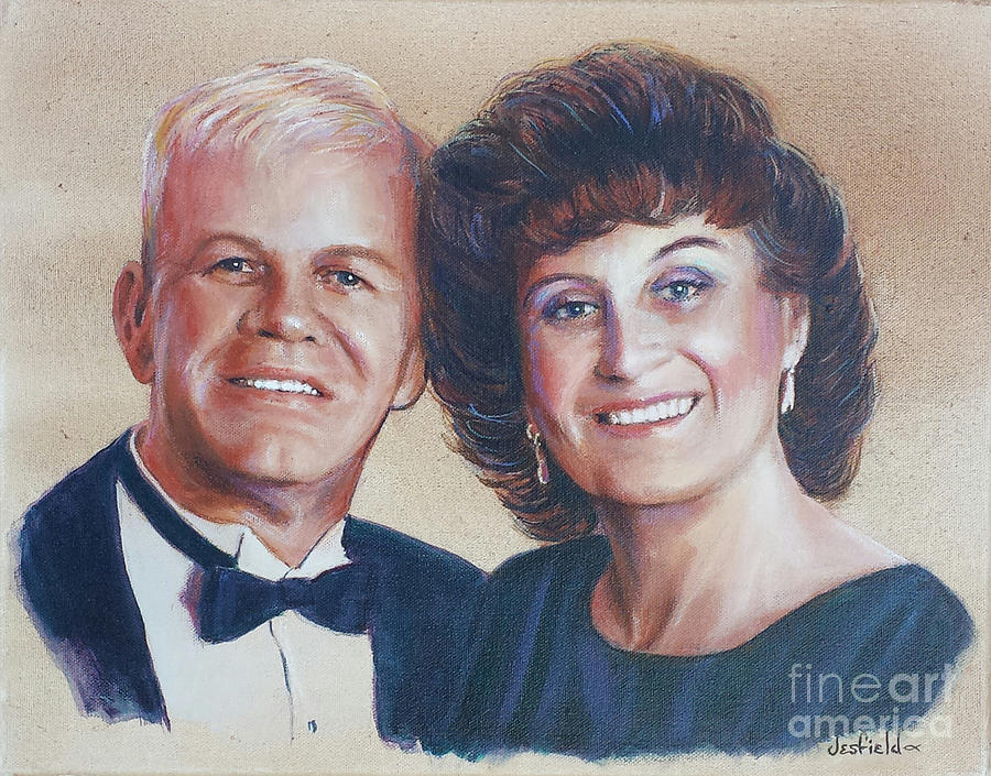 Couple Painting - Soul Mates by LeRoy Jesfield
