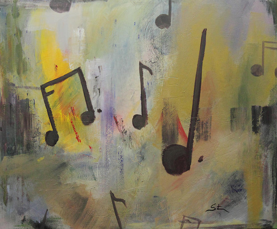 Abstract Painting - Soul Music by Mike Stocker