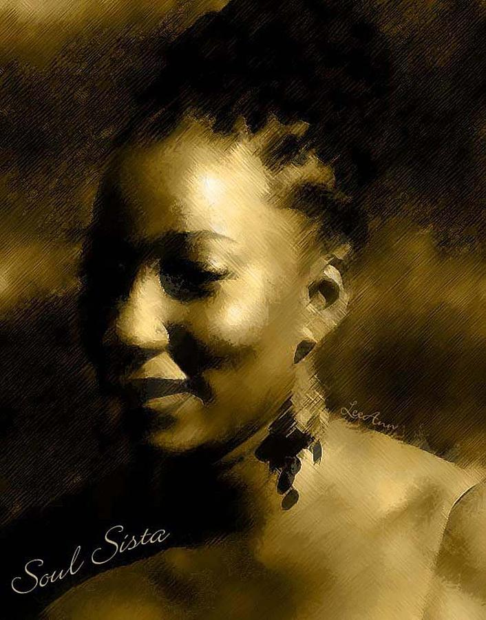 Portrait Photograph - Soul Sista by LeeAnn Alexander
