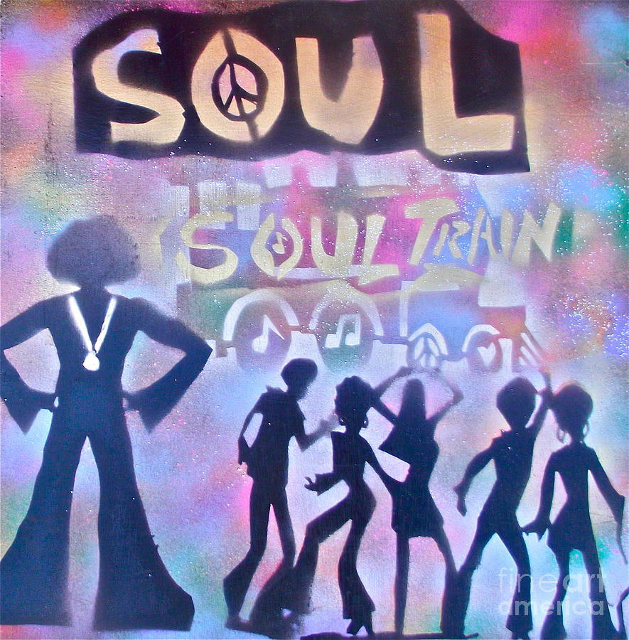 Soul Painting - Soul Train 1 by Tony B Conscious