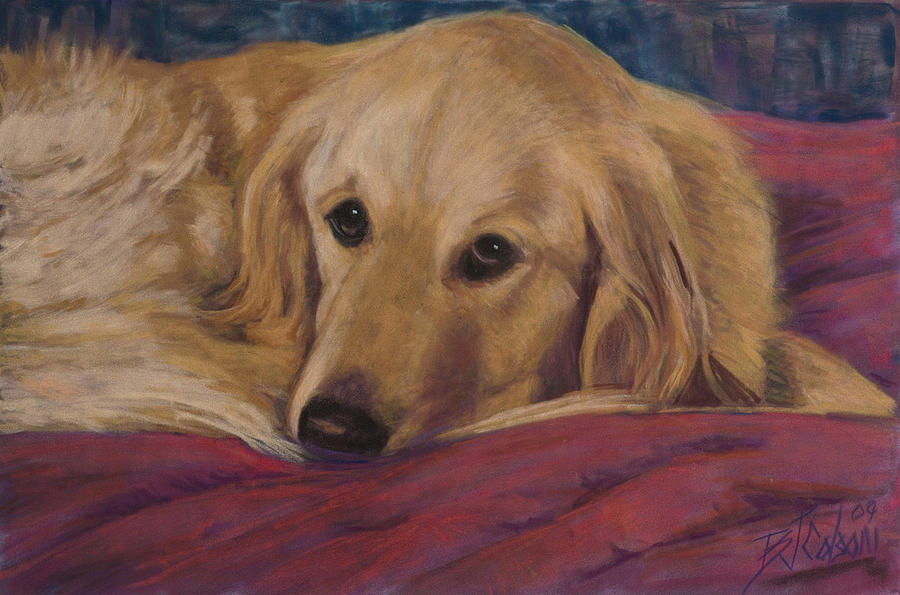Golden Retriever Painting - Soulful Eyes by Billie Colson