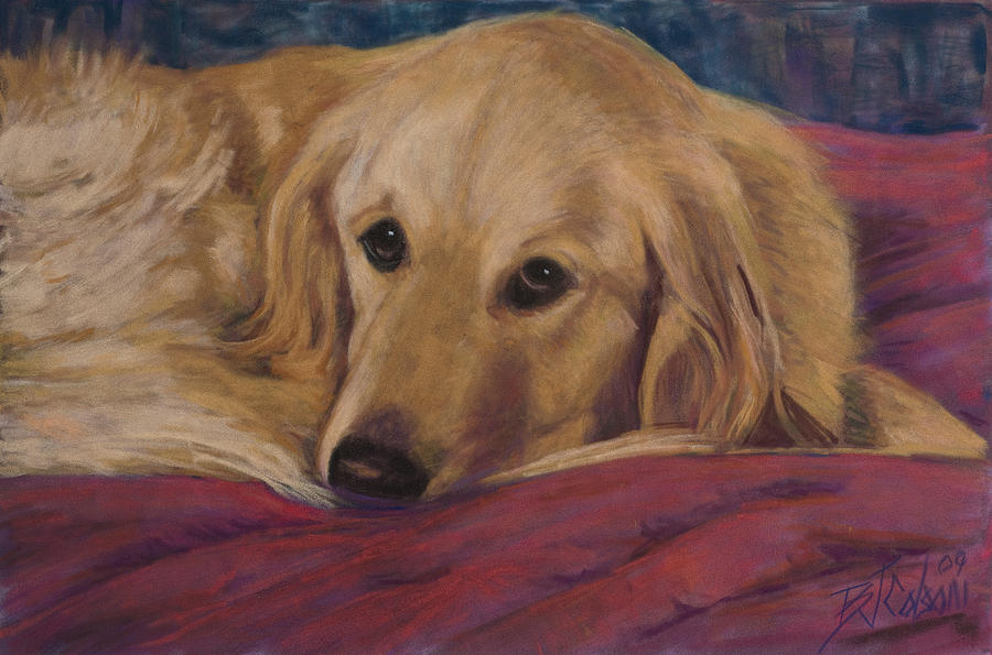 Dogs Painting - Soulfull Eyes by Billie Colson