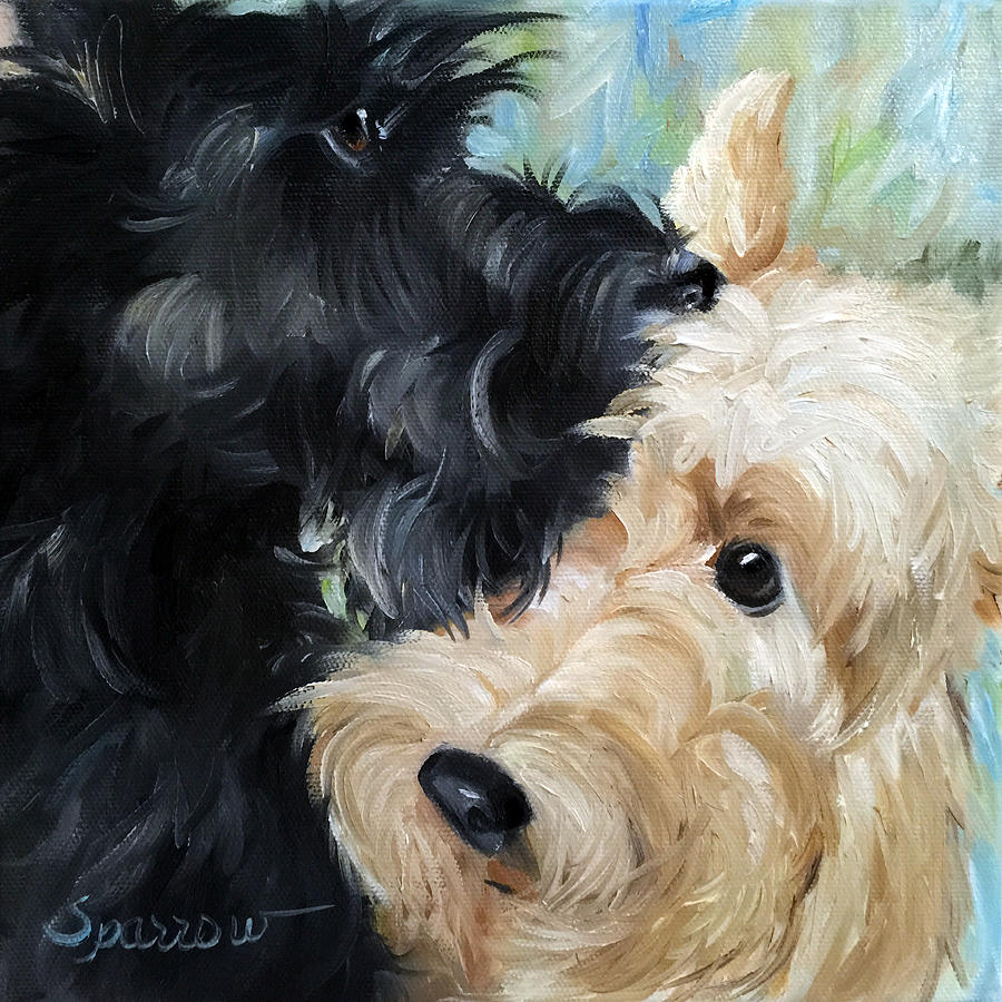Scottie Painting - Soulmates by Mary Sparrow