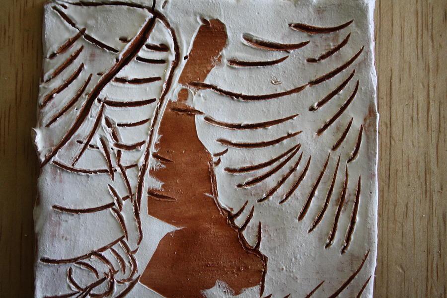 Jesus Ceramic Art - Souls Window - Tile by Gloria Ssali