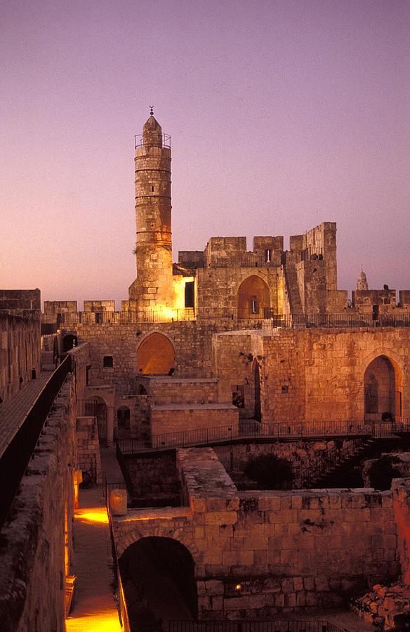 Sound Photograph - Sound And Light Show At Jerusalem City by Richard Nowitz