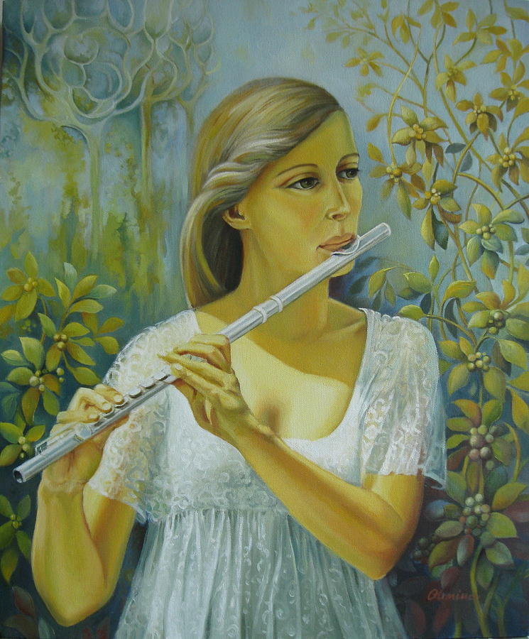 Portrait Painting - Sound by Elena Oleniuc