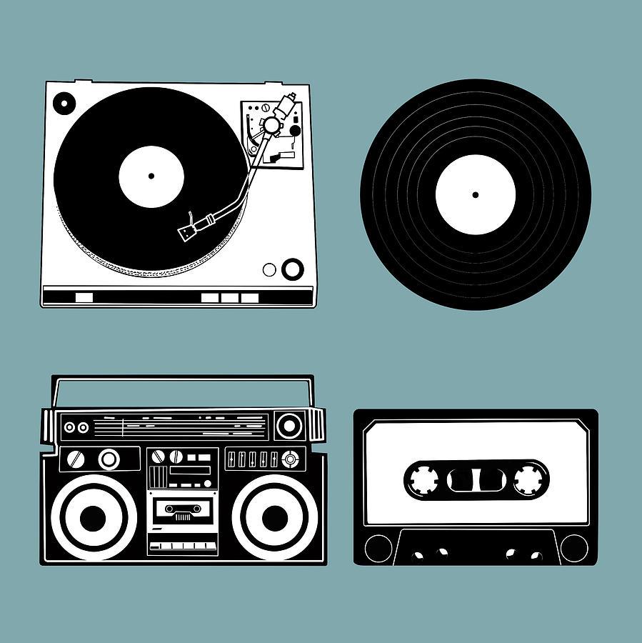 Retro Digital Art - Sound Evolution 11 by Bekim M
